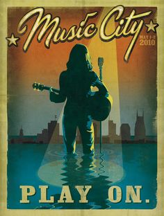 Anderson Design Group: Blog: NEW Spirit of Nashville Flood Relief Posters