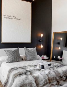 Apartment Therapy Small Spaces Living Room: Pinspiration: Cozy Up With This Fall Apartment Decor Inspiration Couples Apartment, Small Apartment Bedrooms, Home Bedroom, Modern Bedroom, Apartment Living, Master Bedrooms, Apartment Therapy, Cozy Apartment, Fall Bedroom
