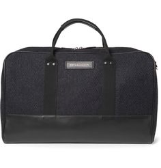 WANT Les Essentiels de la Vie Dulles Leather-Trimmed Tweed Holdall | MR PORTER