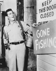 Great Tv Shows, Old Tv Shows, Barney Fife, The Andy Griffith Show, The Lone Ranger, Gone Fishing, Fishing Hole, Classic Tv, Theme Song