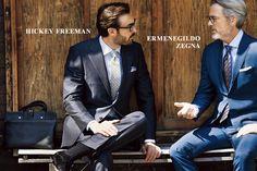 HICKEY FREEMAN ERMENEGILDO ZEGNA Mens Fashion Suits, Mens Suits, Gentleman Style, Stylish Men, Hot Guys, My Style, Socks, How To Wear, Clothes