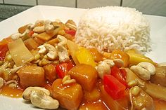 Tofu süß-sauer