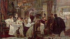 Cérémonie secrète en Espagne à l'époque de l'Inquisition. Tableau de Moshe Maimon, 1893.