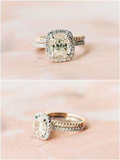 gorgeous double band halo princess cut wedding engagement rings