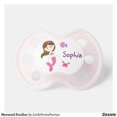 Shop Mermaid Pacifier created by LittlePrintsParties. Baby Shower Party Supplies, Baby Shower Parties, Baby Boy Shower, Baby Shower Gifts, Ocean Baby Showers, Mermaid Baby Showers, Nautical Baby, Nautical Theme, Under The Sea Theme