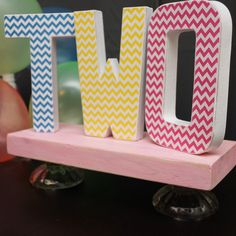 Photo Prop Birthday number TWO  Birthday Letters by DaydreamingKat,