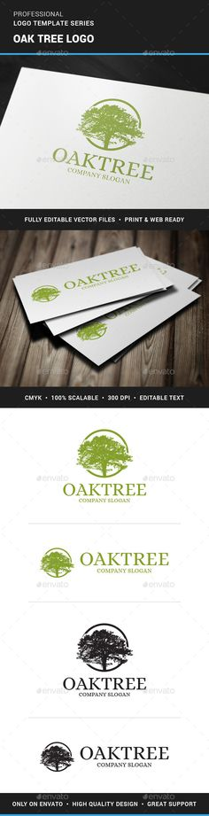 Oak Tree Logo Template by Alex Broekhuizen. Vector stocklogo for sale at the #Envato market. You can buy this professional logo design for just $29,- and use it for both print and web purposes.