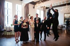 Carly Michelle Photography | #AldenCastle #LongwoodVenues #ModernVintage #HighFive #BridalParty