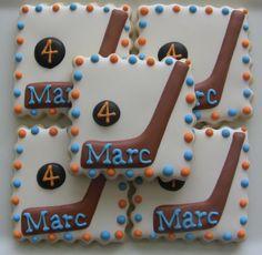 Hockey / Sport Themed Decorated Sugar Cookies via Etsy