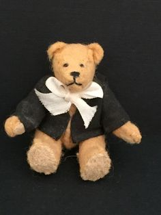 """unknown artist BB - 2"""" tall jointed teddy bear. Please see makers mark board - if you know the artist, please let me know"""