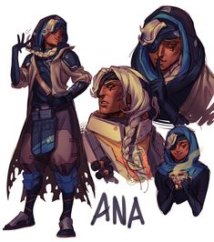 "overwatchcommunity: ""pirate-cashoo: "" the mom i never knew i had "" The expressions on here are so good! I am so happy that Ana is so universally liked so quickly. This has also made me so grateful for having so many fast and amazing artists in the..."