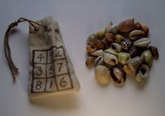 Divination Shells - cowrie shells used for divination in ocean magick