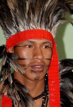 Terena man at Brazil's Indigenous Games
