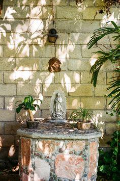 Outdoor altar. Mexico. Voigtlander Bessa R3A with 40mm f/1.4. 1/60 @ f/2.8. Fujicolor 100. #visibleinlight