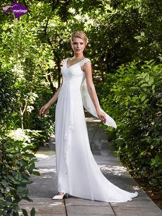 Robe de mariée Enza, robe de mariée fluide, robe de mariage avec bretelles de…