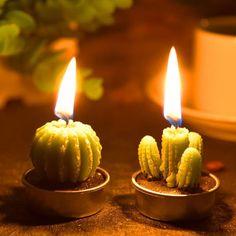 Best Plant-Inspired Decor: Succulent Cactus Candles