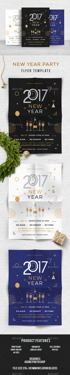 #New #Year - Events #Flyers Download here: https://graphicriver.net/item/new-year/19148703?ref=alena994