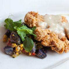 """Cauliflower """"Chicken Fried"""" Steak. Recipe from Chef Danny Trace of Brennan's in Houston, Texas. photo by Andrea Behrends."""