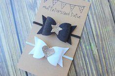 Felt bow headband set newborn/baby/toddler by muffintopsandtutus