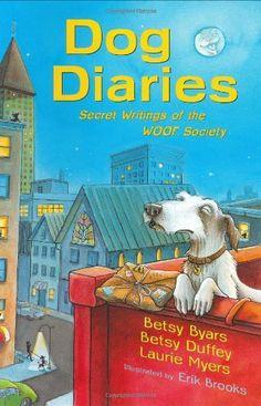 Dog Diaries: Secret Writings of the WOOF Society by Betsy Byars, http://www.amazon.com/dp/0805079572/ref=cm_sw_r_pi_dp_4sWzqb10J18BR