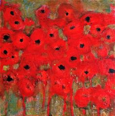 Original art for sale at UGallery.com | Poppies 2 by Pat Forbes | $550 | acrylic painting | 12' h x 12' w | http://www.ugallery.com/acrylic-painting-poppies-2