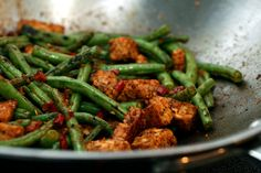 spicy tempeh & green beans - Looks amazing! I'm off to buy tempeh now.
