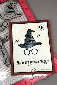 Creative Lady: Crackerbox & Suzy Stamps with My Sweet Petunia! Blog Hop! #Harrypotter #stamps #cards #cardmaking #crackerboxandsuzystamps #sortinghat Carte Harry Potter, Harry Potter Cards, Kids Birthday Cards, Diy Birthday, Boy Cards, Kids Cards, Harry Potter Birthday Cards, Harry Potter Classroom, Unity Stamps