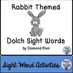 This set includes all 220 Dolch words and is in both color and black and white. It was inspired by the Chinese New Year zodiac. It can be played anytime.Rabbit Sight Word Memory GameThe game is played as a typical memory game. You will need to make 2 copies of each sheet in order to do the matching.Rabbit Sight Word Flash CardsUsing the same templates, practice the sight words in pairs or in sets.