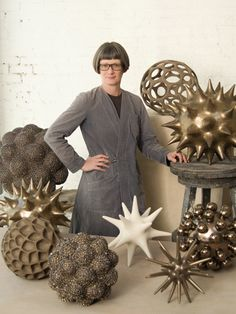 Pamela Sunday makes hand built ceramic sculptures inspired by nature and    science. She is known for her meticulous craftsmanship and for testing the limits    of her chosen materials both in surface and form. Sunday lives and works in    Brooklyn, New York.