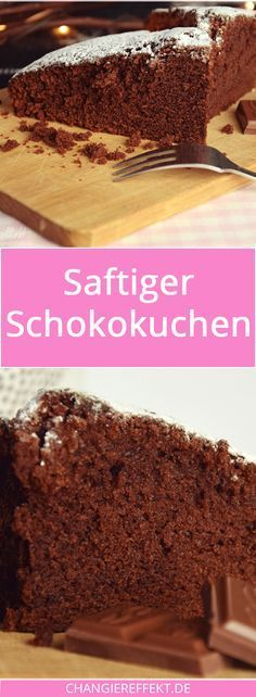 Dieser saftige Schokokuchen ist schnell und einfach gemixt, du brauchst dafür n… This juicy chocolate cake is quickly and easily mixed, you only need a few ingredients that you probably have at home anyway, and it tastes really chocolaty! Easy Cookie Recipes, Easy Desserts, Cake Recipes, Dessert Recipes, Recipes Dinner, Food Cakes, Chocolate Recipes, Chocolate Cake, Fast Easy Meals