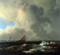 Якоб ван Рейсдаль - Парусники на свежем ветру. Часть 4 Национальная галерея