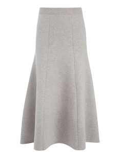 Soft Wool Skirt, in CONCRETE, large | on Joseph