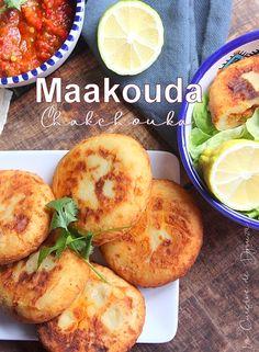 Maakouda a la chakchouka | Cuisinez avec Djouza Plats Ramadan, Algerian Recipes, Ramadan Recipes, Beignets, Entrees, Food And Drink, Veggies, Snacks, Cooking