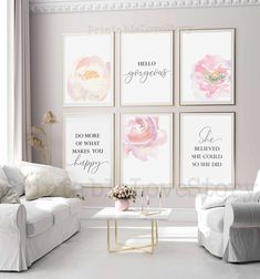 Pink Office Decor, Home Office Decor, Feminine Office Decor, Office Ideas, Guest Room Decor, Wall Decor, Floral Bedroom Decor, Feminine Home Offices, Pink Home Offices