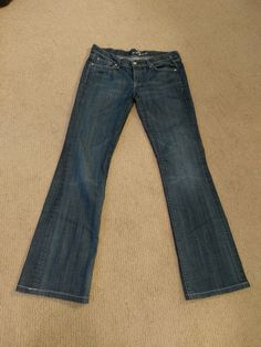 """SEVEN FOR ALL MANKIND SIZE 30 LADIES JEANS BOOTCUT INSEAM 32"""" #7ForAllMankind…"""