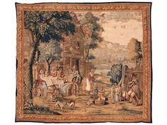 Höhe: 318 cm. Breite: 355 cm. Ende 18. Jahrhundert. Das Bildthema von David Teniers dem Jüngeren entlehnt, der Entwurf möglicherweise von Theobald Michau....