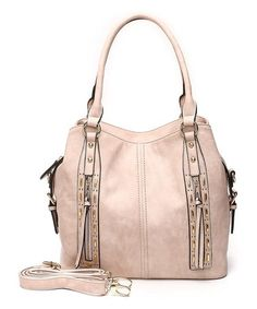 This Pink Studded Satchel is perfect! #zulilyfinds