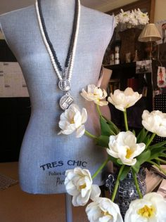 French Kande Necklaces and flowers