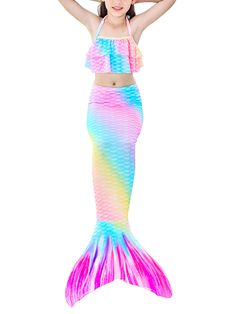 Girls Mermaid Tail, Mermaid Tails For Kids, Kids Bathing Suits, Kids Suits, Kids Outfits Girls, Girl Outfits, Kids Girls, Swimming Costumes For Girls, Mermaid Tail Costume
