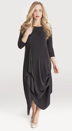 Sympli Drama Dress 3/4 Sleeve FREE shipping www.specialteesboutique.com