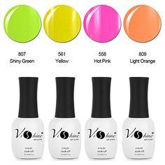 Vishine 4Pcs/Lot 16 mL Gel Nail Polish Soak Off UV Gel Solid Colors Series S151 -- See this great product.