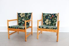 fauteuil-borge-mogensen-bm2100-sandeson-maison-nordik-MNF198.1 sanderson william morris www.maisonnordik.com Danish Modern Midcentury modern Danish Modern, Midcentury Modern, Chair Upholstery, William Morris, Decoration, Accent Chairs, Mid Century, Furniture, Vintage