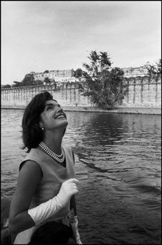 UDAIPUR, India—First lady Jacqueline Kennedy returns from a visit to the Lake Palace Hotel, 1962