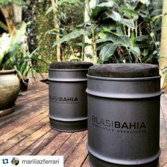 Banquinhos #industrialdesign #barril #rebecaguerra #lata #decoração #banquinho