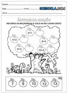 atividades de matematica 1 ano - Pesquisa Google Kindergarten Anchor Charts, Homeschool Kindergarten, Preschool Worksheets, Learning Activities, Preschool Activities, Cursive Writing Worksheets, First Grade Math Worksheets, English Worksheets For Kids, Math Challenge