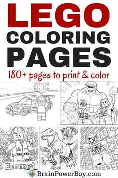Are your kids big LEGO fans? Do they like to color? Have we got a great roundup for you. Click the picture for 180+ LEGO coloring pages including LEGO City, Ninjago, The LEGO Movie, LEGO Superheroes, LEGO Jurassic Park, LEGO Juniors and LEGO DUPLO. Wow!!