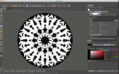 Painting a Snowflake by Chicago C4D. Happy Holidays! This is a tutorial using a simple yet effective Bodypaint.
