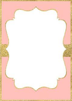 Resultado de imagem para invitation gold and pink