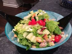 Dinner Salad with Sesame Almonds
