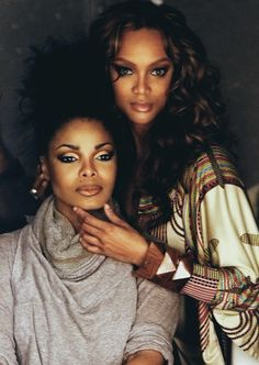 Janet Jackson best R&B singer and dancer of her time, now known for her brilliance on film. Tyra Banks the black super model after Naomi Campbell, we also know her from America's Next Top Model.
